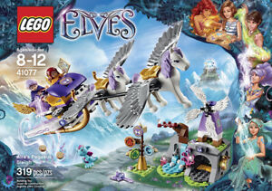 LEGO Elves 41077 Aira's Pegasus Sleigh Building Kit(NEW)