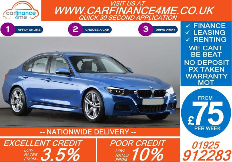 2013 BMW 330D 3.0 TD M-SPORT GOOD / BAD CREDIT CAR FINANCE FROM 75 P/WK