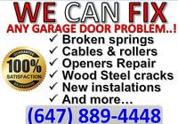 24/7 h *BRAMPTON* GARAGE DOOR REPAIR *MISSISSAUGA* 647-889-4448