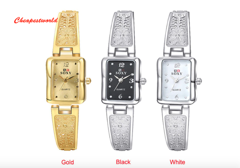 Ladies Womens Bracelet Watch Steel Analog Wrist Watches party Gift Gold Silver