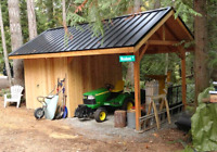 Custom shed and deck contractor