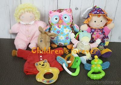 Lot 8 Pcs Baby Girls Learning Toys Rattle Plush Dolls Llama Puppet Eden Lamaze +