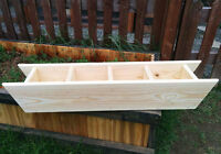 4-Herb Planter Boxes, pre-planted or empty!