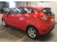 2013 RED FORD FIESTA 1.2 ZETEC 82 PETROL 3DR HATCH CAR FINANCE FR £20 PW