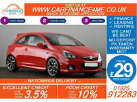 2013 VAUXHALL CORSA 1.6 VXR TURBO GOOD / BAD CREDIT CAR FINANCE FROM 29 P/WK