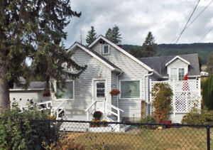 Home and large lot in downtown Lumby
