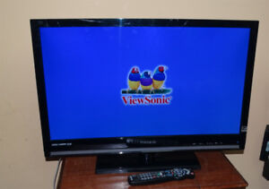 "Viewsonic 32"" LED TV or Monitor with Stand & Remote"
