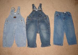 Oshkosh Overalls, Summer Hats - 12, 12-18 / Water Shoes sz 5