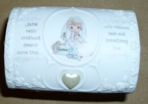Precious Moments June Birthday Jewelry Box/Joy Porcelain Trinket