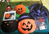 Hallowe'en Books, Pillows, Witch and Hat