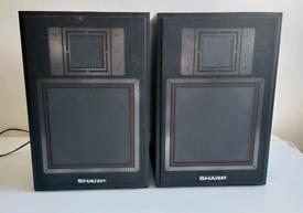 Retro Sharp speakers