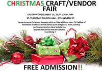 Christmas Craft / Vendor Fair Dec 10, 2016