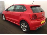 2013 RED VW POLO 1.2 TSI 105 R LINE PETROL 5DR HATCH CAR FINANCE FR £29 PW