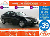 2012 MERCEDES C220 CDI SE GOOD / BAD CREDIT CAR FINANCE FROM 39 P/WK
