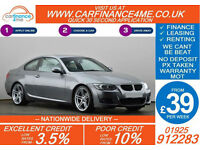 2011 BMW 318 2.0 M-SPORT GOOD / BAD CREDIT CAR FINANCE FROM 39 P/WK