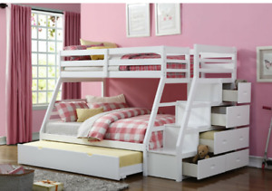 Twin over full bunk beds NEW IN BOXES