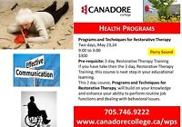 Programs and Techniques for Restorative Therapy, Parry Sound