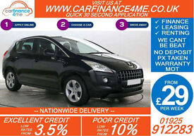 2013 PEUGEOT 3008 1.6 HDI ACTIVE GOOD / BAD CREDIT CAR FINANCE FROM 29 P/WK
