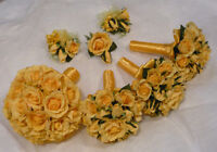 Beautiful Wedding Flower Package All In Yellow Roses.