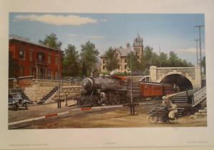 TH&B  Hunter Street  Train Tunnel ltd edition print