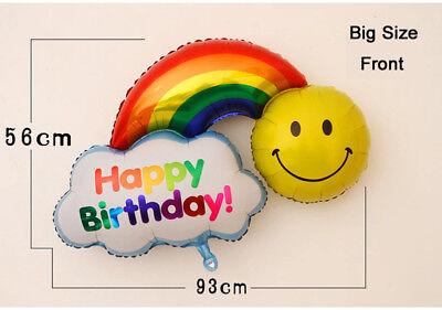 Cartoon Smile&Rainbow Foil Balloon For Children Happy Birthday Party - Rainbow Birthday