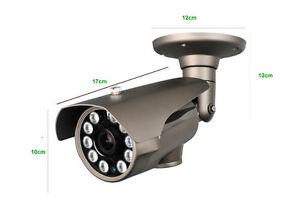 BULLET CAMERA 2.8-12mm VARIFOCAL IR LEDS 80mt 1000 TVL 720P