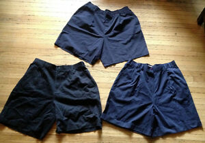 5 pairs summer dress shorts size 18-20 navy blue/black