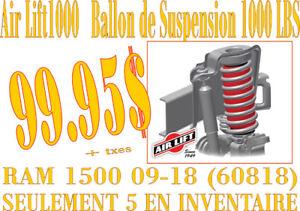 AIRLIFT-BALLONS DE SUSPENSION  pour Dodge Ram 1500 09-18 60818