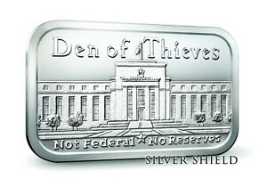 Bar en argent/silver 1 oz Den of thieves