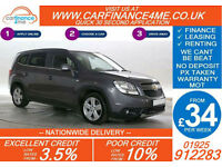 2013 CHEVROLET ORLANDO 2.0 VCDI LTZ GOOD / BAD CREDIT CAR FINANCE FROM 34 P/WK