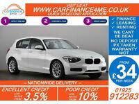 2012 BMW 118D 2.0 TD SE GOOD / BAD CREDIT CAR FINANCE FROM 34 P/WK