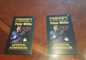 2 Tickets to see Peter White at Chuckles on March 30th