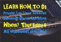 PRIVATE DJ CLASSES - any age! Equipment included!