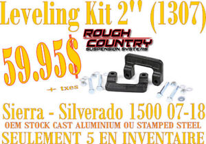 SPÉCIAL Rough Country Leveling Kit 2'' GMC-Chev 1500 07-18 1307R