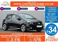 2014 VAUXHALL CORSA 1.6 VXR GOOD / BAD CREDIT CAR FINANCE FROM 34 P/WK