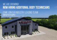 Growing Collision Centre Hiring Technicians