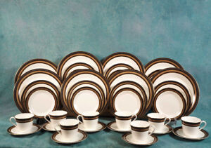 VINTAGE Royal Doulton CADENZA FULL SET for 8 Dinner cups Plates