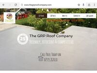 GRP fibreglass flat roof -25 year manufacturer guarantee