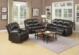 Air Leather 3 Piece Recliner Sofa Set Starting $1099.00