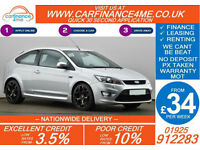 2010 FORD FOCUS 2.5 ST-2 GOOD / BAD CREDIT CAR FINANCE FROM 34 P/WK