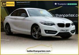 2014 14 BMW 2 SERIES 2.0 220D SPORT HUGE SPEC 46,000 MILES 2D 181 BHP DIESEL