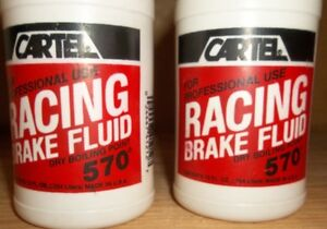CARTEL RACING BRAKE FLUID 570 DEGREE DRY BOILING POINT