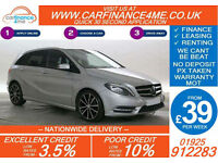 2012 MERCEDES B200 CDI SPORT GOOD / BAD CREDIT CAR FINANCE FROM 39 P/WK