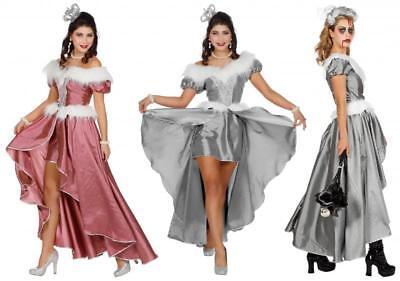 Halloween Eisprinzessin Rokoko Königin Eiskönigin Damen Prinzessin Kleid (Halloween Kostüme Rosa Kleid)