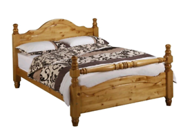Pine wood Double bed frame in great condition