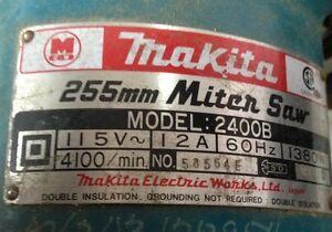 Makita 255mm MITER SAW usagée 179$ pas utiliser depuis 6ans