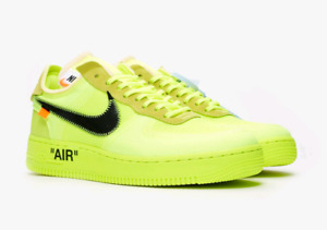 Off-White x Nike Air Force 1 'Volt' 9.5 US