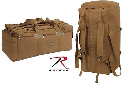 """Rothco Coyote Brown Mossad Tactical Duffle Bag - Large 34"""" Canvas"""