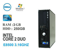 Ordinateur Dell 780 Core 2 Duo 3.16GHZ, 3GB, 250GB, win7 pro