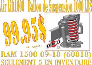 AIRLIFT - BALLONS DE SUSPENSION pour RAM 1500 09-18 60818